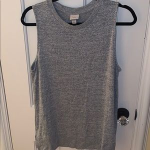 A New Day Gray Heathered Sweater Tank